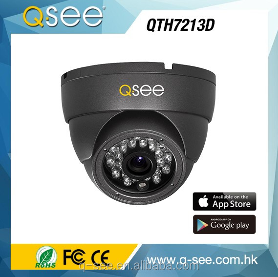 Q-SEE Brand High-Tech Dome 720p Resolution AHD Dome CCTV Camera System with 2.8mm Fixed Lens Hot Selling