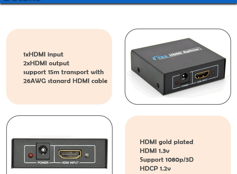 HDMI splitter 1x2 (4)