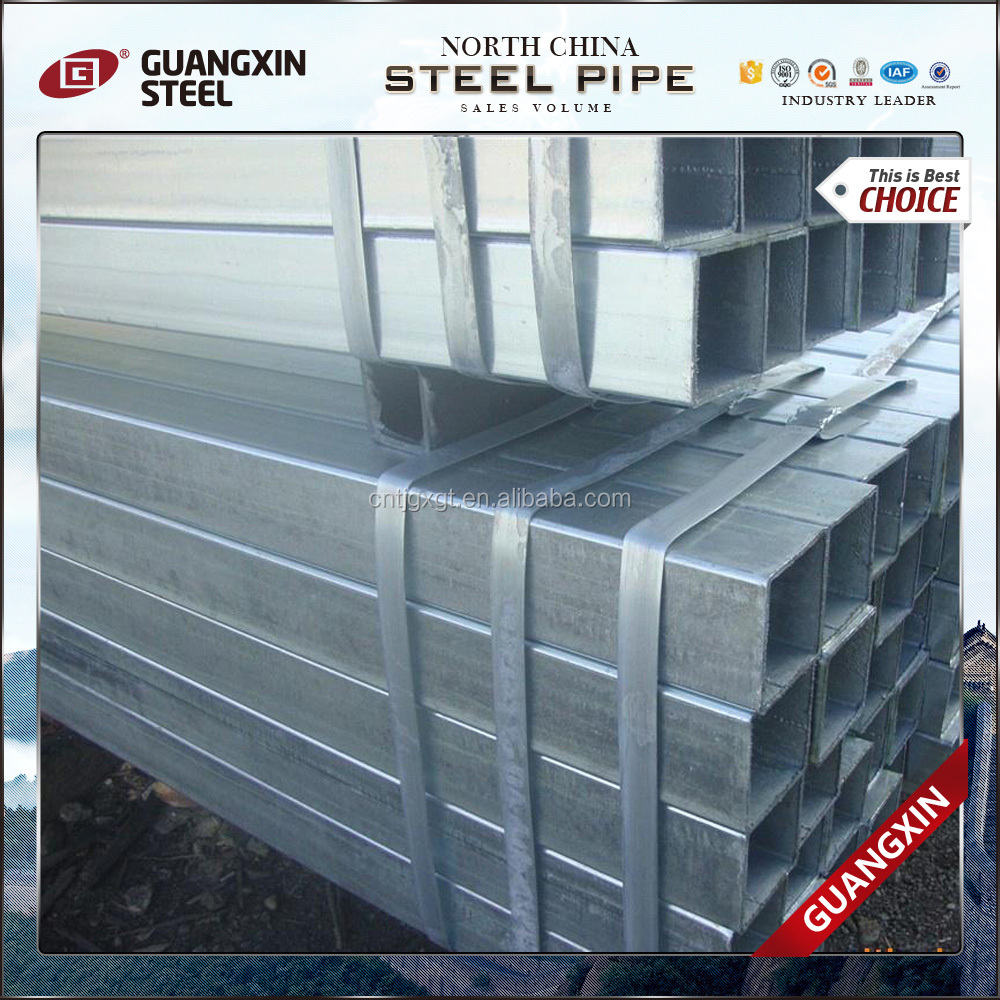 Best price galvanized pipe/ Hot dipped GI rectangular section tube/ Q235/ST42 RHS