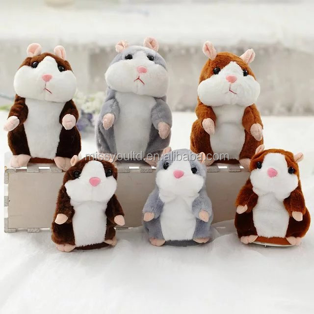 Fashion Plush Talking Hamster Soft Toy Repeat Talking Hamster