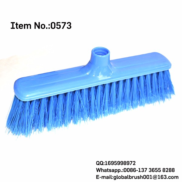 HQ0573 clean floor brushes with wood base and wood handle balai magnetique escobillons de Canada