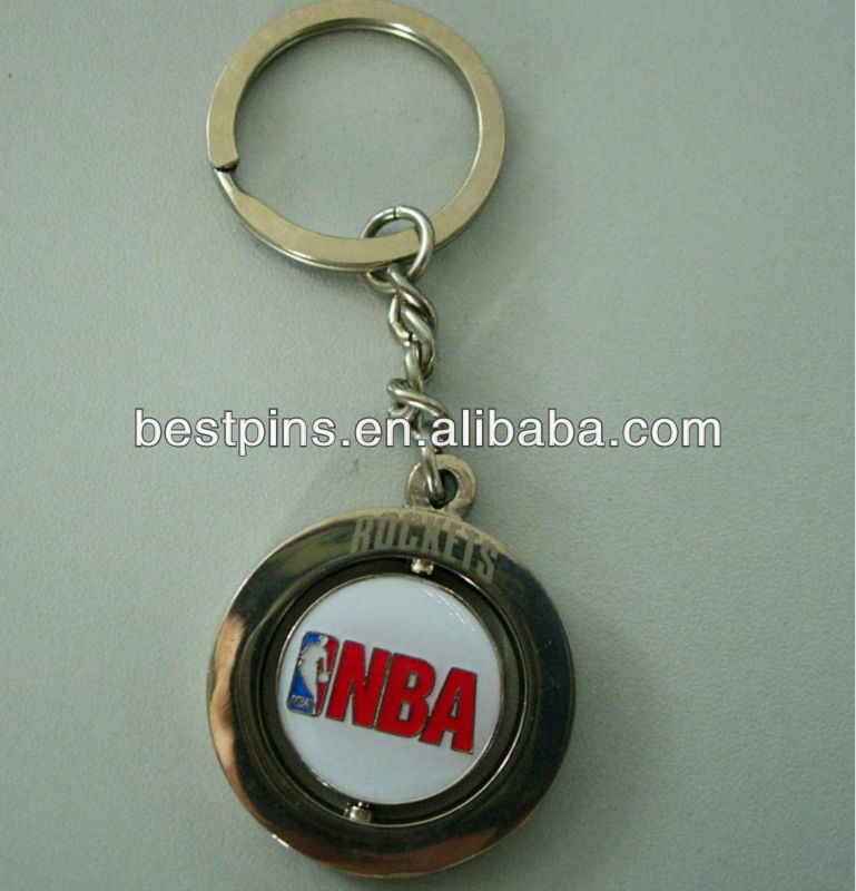 spinning printing key ring /die casting spinning key chain(BS-AJ-KC-13103003)
