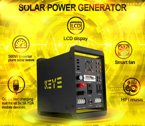 All in one solar generator 500w solar energy system power bank new solar products