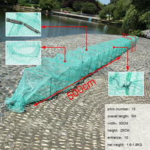 Durable foldable 5m fishing net hauler dragon net