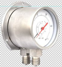 Double bourdon system differential pressure gauge