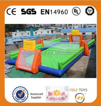 hot sale inflatable water football pitch