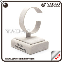 Best selling velvet white wood bangle jewelry display stand