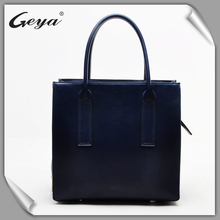 OEM manufacturers leather women's tote bag with quick shipping