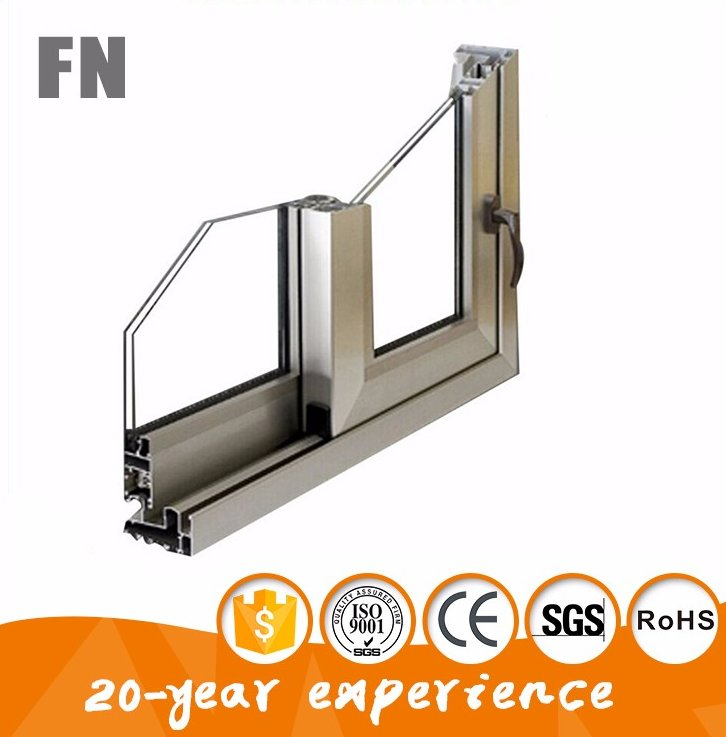 Aluminum profile design door with surface finished