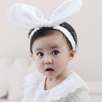 MS70052W Lovely baby cotton plain hair band