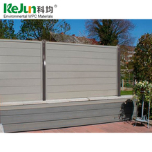 Wholesale cheap fire-proof outdoor garden wpc cheap wooden fence panels
