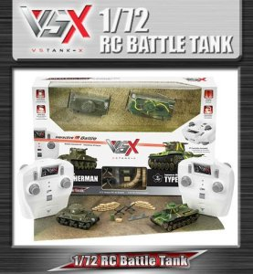 VSX 1/72 Mini RC tank infrared battle tank