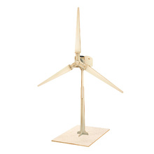 DIY wooden solar powered windmill model