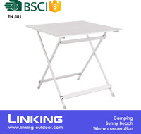 Outdoor Lightweight Portable Foldable Compact Aluminum Folding Picnic Table