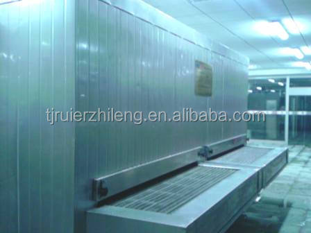 stainless steel belt tunnel instant quick freezer (rapid freezing) 5000kg per hour