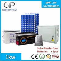 [GP-EA-M1000] 1kw Home Solar Power Systems Low Frequency Inverter MPPT solar charge controller