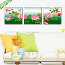 Chinese Style Peony Flower Painting Wall Pictures for Guest Room