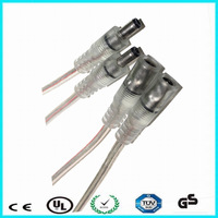 DC 5521 plug low voltage 12v 24v transparent power cable