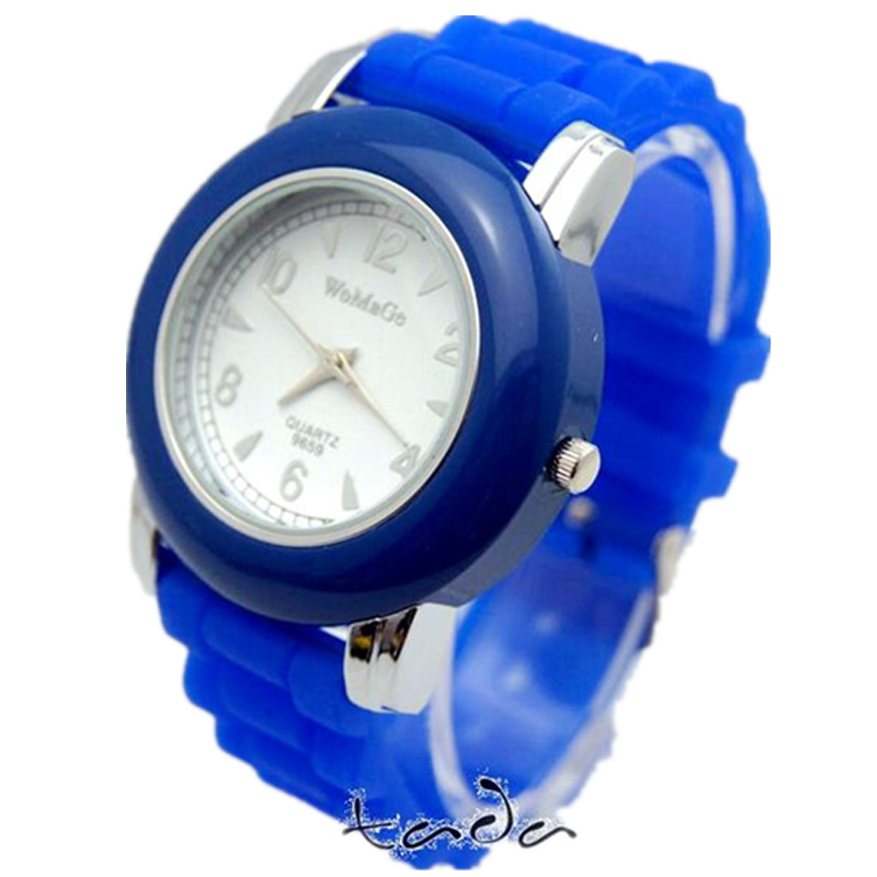 high quality silicone band wrist womage brand quartz watch
