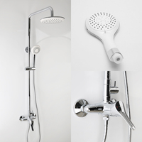 Elegant Chrome Overhead Thermostatic Bath Shower Mixer Set