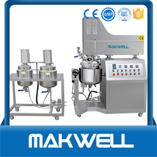 high quality 100l vacuum emulsifying mixer mixing tank