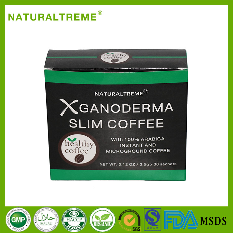 diatary healthy ganoderma instant slimming coffee