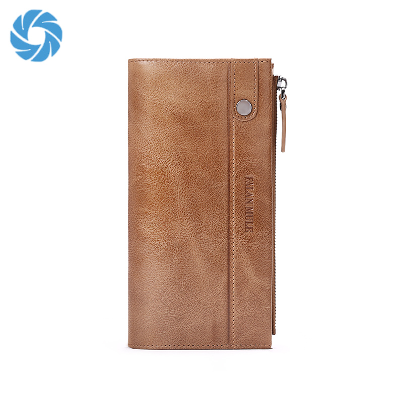 Minimalist Money Clip Cowhide Credit Card Holder Hobo Sample Mens leather Wallet