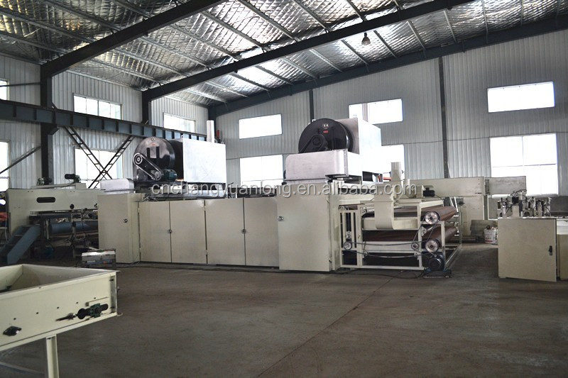Thermal bonded wadding production line in Qingdao China
