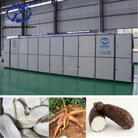 Heat And Strong Air To Dry Food Grade Cassava Slice Dryer