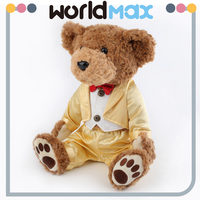 Kids Custom Lovely Cartoon Sitting Stuffed Animal Plush Teddy Bear Adult Toy