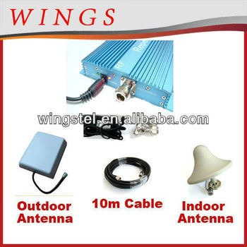 GSM980 cellphone repeater/booster Signal coverage : Upto cover for 2000 Outdoor Panel antenna Indoor ceiling antenna