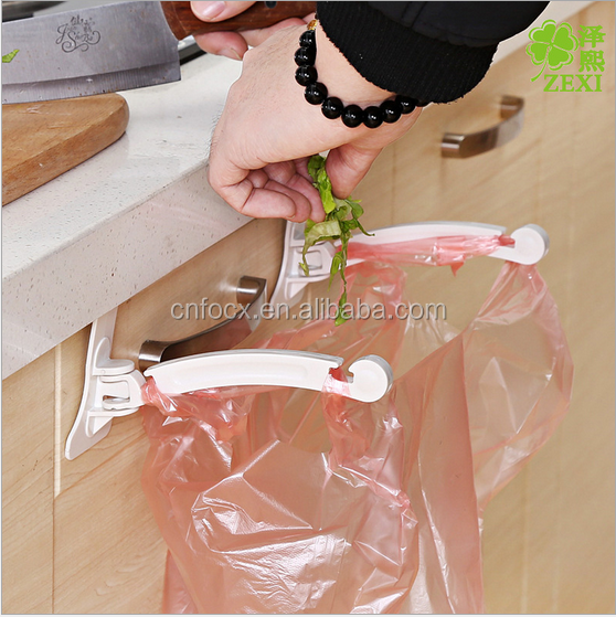 Trash Bag Hanging Rack / kitchen Rubbish Bag Holder / Garbage Bag Hanger