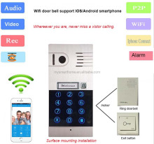 2016 new WiFi IP Video door phone support 5pcs Android/IOS smartphone