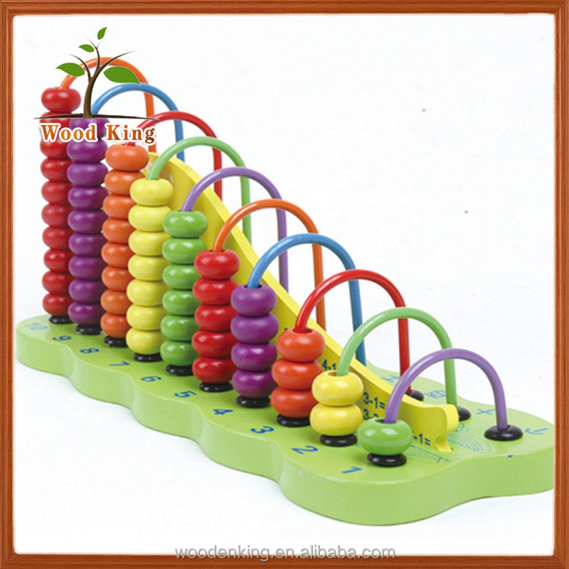 Beech Digital Computing Rack Beaded Puzzle Kids Baby Wooden Educational Toys Kindergarten For Children