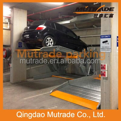 2 pole car lift CE Certificate Two Post Tilting Car Parking Lift