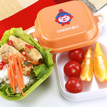 Custom printed single layer food lunch box recycle