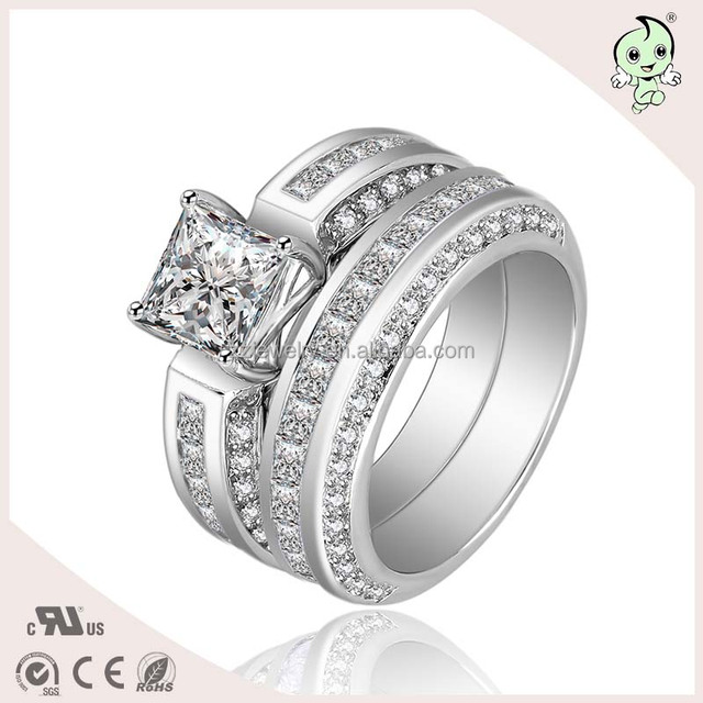 Silver Factory Directly Sell Luxurious Shinning CZ Paving 925 italian Silver Ring