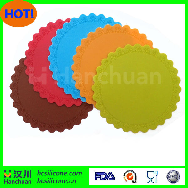 Hot Sale silicone red drink coasters