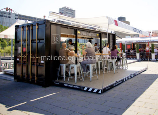 Long time use for outdoor use prefabricated coffee shop, Container food kiosk , prefabricated restaurant