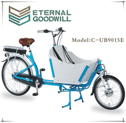 CE Certification inter 3 speeds 26 inch electric cargo bike/electric cargo tricycle/electric tricycle for adult UB 9015E