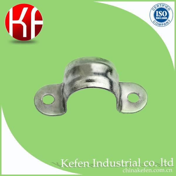 pre galvanized steel clamps, GI conduit pipe clamp, electrical metal tube saddle