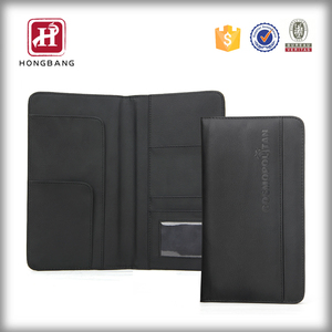 Genuine leather mens simple check holder cash book style 2015