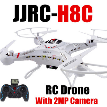 2015 Newest Awesome DFD F183 / JJRC H8C 2.4G RC Helicopter 6-Axis GYRO Quadcopter Drone With Camera LED Remote control Toys RTF