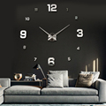 3d wall clock DIY Large Wall Clock 3D Mirror Surface Sticker Home Office Decor Promotional Decoration Clock