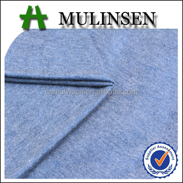 Mulinsen Textile Plain Dyed Knit Stretch Paper Printing Polyester Rayon TR Fabrics for Garment Sweaters