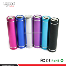 2017 original cells Slim torch POWER BANK , Lipstick power bank with torch high performance Led light power bank 2600mah