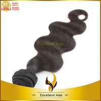 Braided fishing line hair weave , Peruvian virgin hair