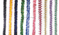 Top sale christmas tinsel garland for christmas tree china supplier wholesale colorful tinsel garland artificial tinsel garland