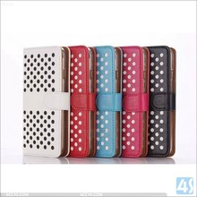 Dot view Detachable wallet leather cover case for Iphone 6