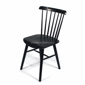 new arrival rubber wood side cafe salt chair Windsor dining Chair